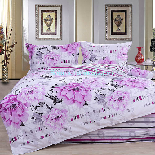Classical Cotton Floral Stripe Collection Queen Size